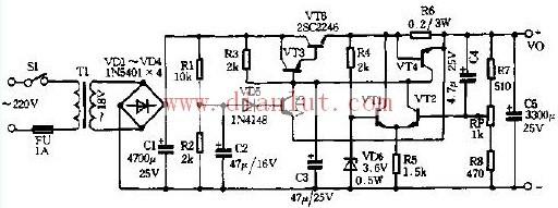 高性能直流稳压电源电路图电源电路 电路图图片