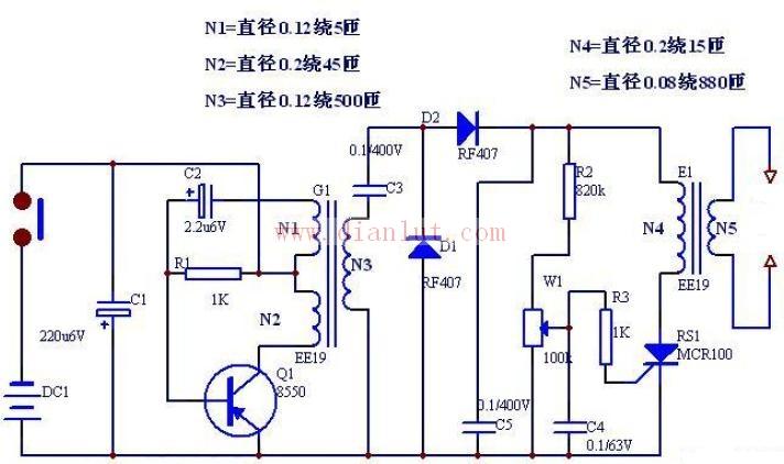 双变压器组成的电源电路原理图
