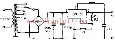 基于DN-35芯片设计变压器抽头式稳压器电路