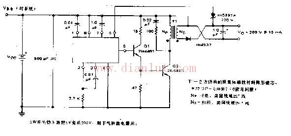 【图】3w开关稳压器应用电路原理图电源电路