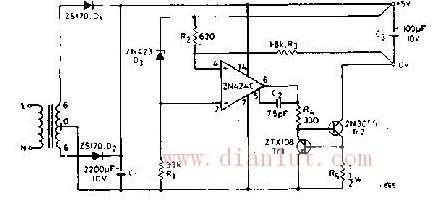 5V/0.5A电源电路原理图