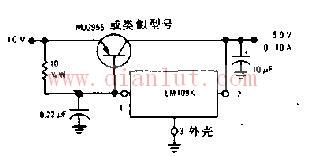 5.0V/10A稳压器电路原理图