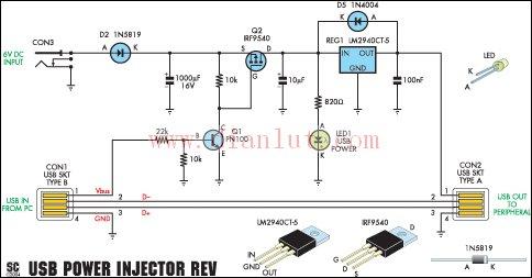 硬盘驱动器的usb供电电路