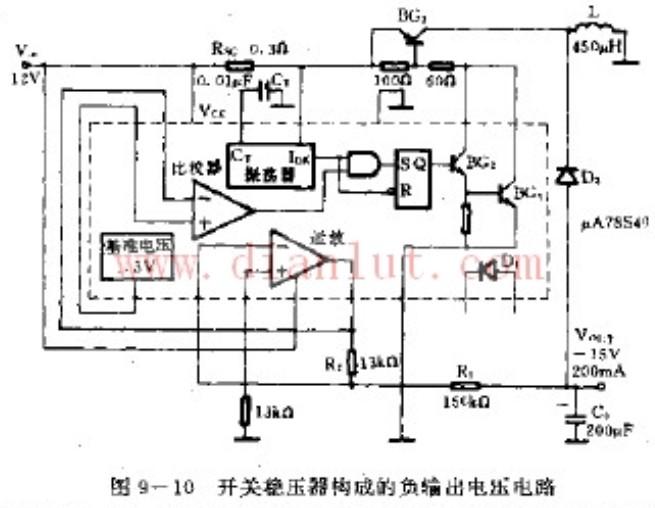 采用开关稳压器制作负输电压电路