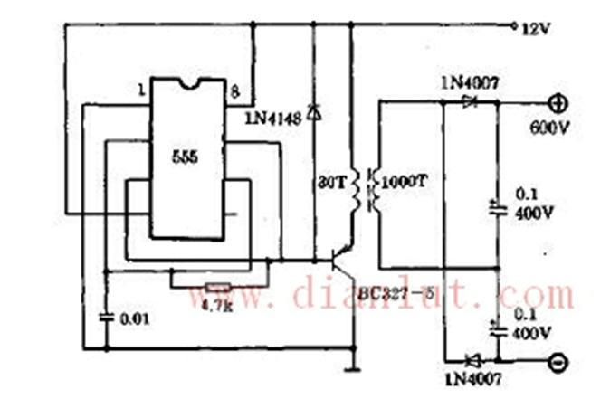 于产生高电压的直流电源电路电源电路 电路图 捷配电子市场网图片