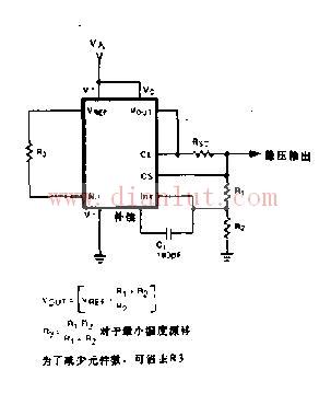 参考电压由ic内部的带隙参考源(bandgap reference)产生.