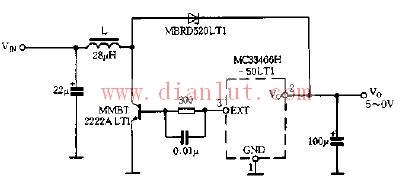 采用MC33466H-50JT1的升压变换器