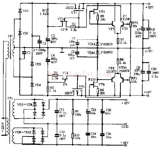 """场效应晶体管(Field Effect Transistor缩写(FET))简称场效应管。由多数载流子参与导电,也称为单极型晶体管。它属于电压控制型半导体器件。具有输入电阻高(108~109)、噪声小、功耗低、动态范围大、易于集成、没有二次击穿现象、安全工作区域宽等优点,现已成为双极型晶体管和功率晶体管的强大竞争者。   场效应管工作原理用一句话说,就是""""漏极-源极间流经沟道的ID,用以门极与沟道间的pn结形成的反偏的门极电压控制ID""""."""