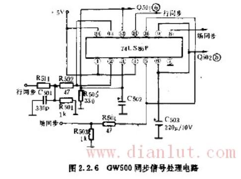 基于74LS86设计GW500同步信号处理电路