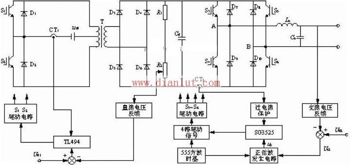 【图】车载正弦逆变电源电路原理图电源电路