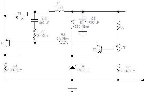采用晶体管设计标准的线性开关电源稳压电源电路