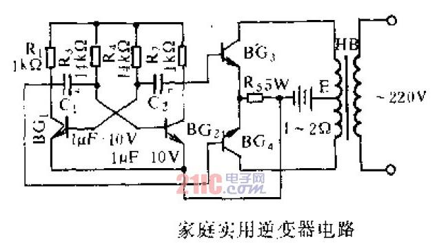 【图】介绍家庭实用逆变器电路的组成电源电路