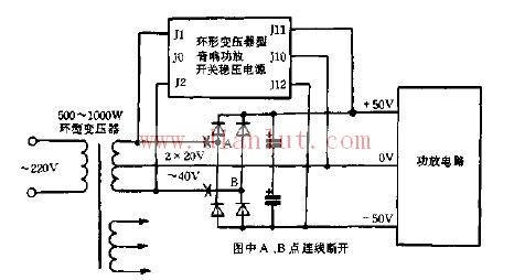 【图】通用音响功放开关电源电路原理图电源电路