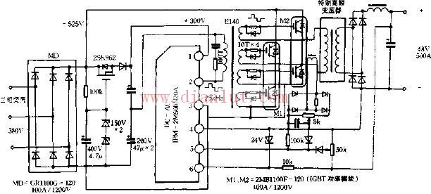 """开关电源是一种电压转换电路,主要的工作内容是升压和降压,广泛应用于现代电子产品。因为开关三极管总是工作在 """"开"""" 和""""关"""" 的状态,所以叫开关电源。开关电源实质就是一个振荡电路,这种转换电能的方式,不仅应用在电源电路,在其它的电路应用也很普遍,如液晶显示器的背光电路、日光灯等。开关电源与变压器相比具有效率高、稳性好、体积小等优点,缺点是功率相对较小,而且会对电路产生高频干扰,变压器反馈式振荡电路,能产生有规律的脉冲电流或电压的电路叫振荡电路,变压器反馈式振荡电路就是能满足这种条件的电路。"""