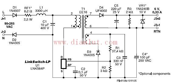 电路图 电源电路 >> 恒压恒流(cv/cc)输出的电源电路及解析    交流