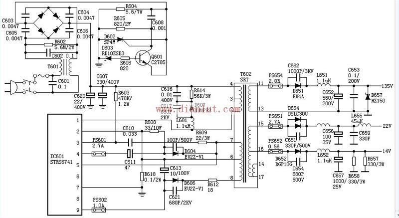 【图】索尼sony f29机芯电源电路
