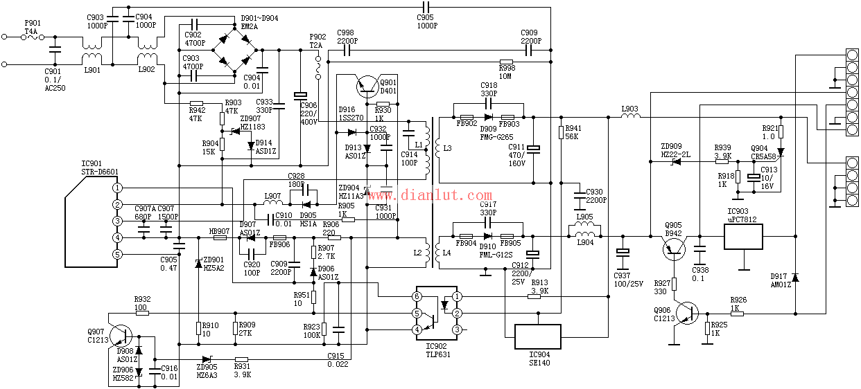 6502按钮继电器电路图