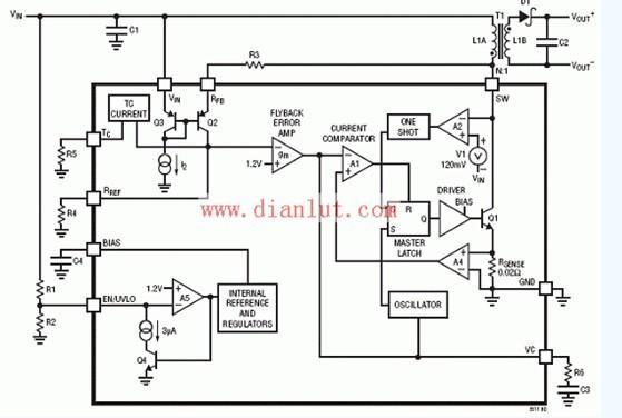 LTC3511高压单片开关稳压电源电路