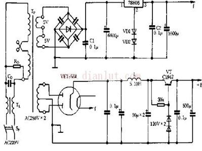 低噪声电子管电源原理图