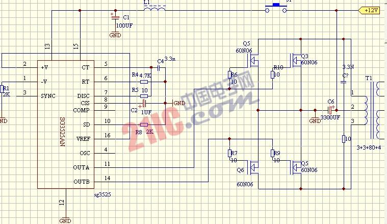 【图】sg3525an构成的逆变器电路图电源电路