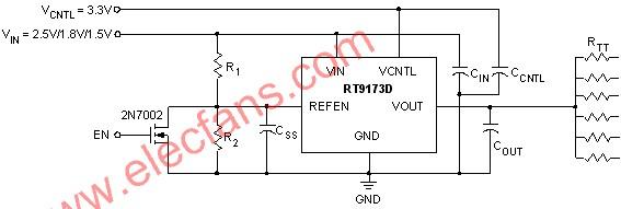 RT9173D简单应用电路图