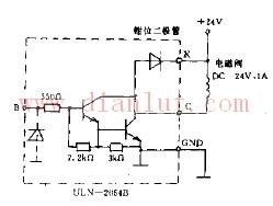 晶体管驱动直流电磁阀电路