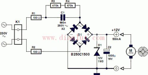 【图】交流驱动风扇电路电源电路