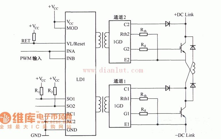 SCALE驱动器电路原理图