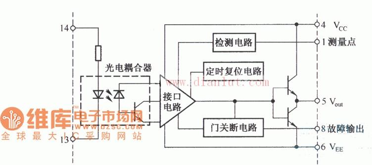 m57962l的内部结构电路原理