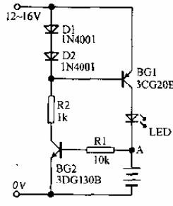 镍镉电池的充电保护电路原理图