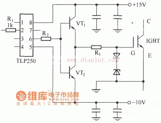 由集成电路TLP250构成的电路原理图