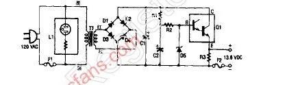 13.8V的直流稳压电源电路