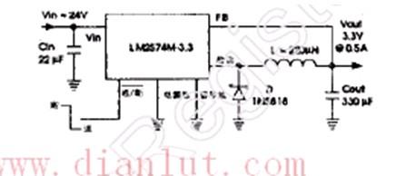 【图】基于lm2574的简易电压调节电路电源电路