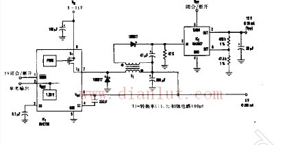 将反向调节器从5V增加12V输出的电路