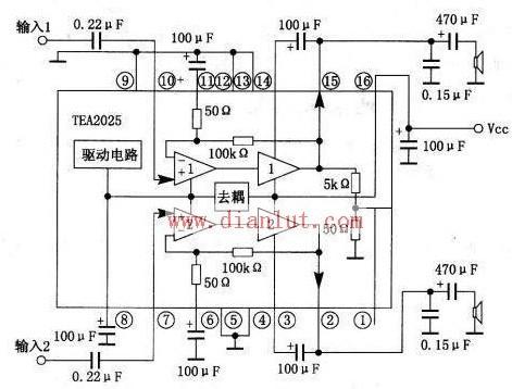 TEA2025内部结构电路