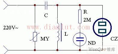 交流稳压器过压及防雷保护电路原理图-固定直流稳压电源 一图片
