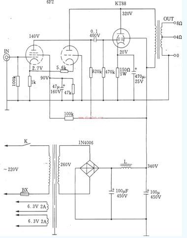 kt88超三极管接法电路图