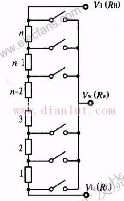 数字电位器的内部简化电路