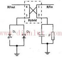 二极管反向并联预失真器电路原理图