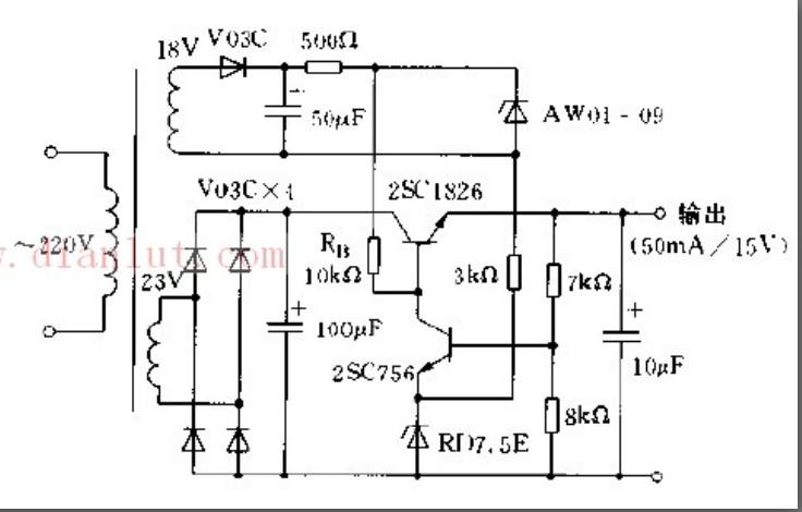 采用恒压源或横流源提供稳定偏置电源实例电路