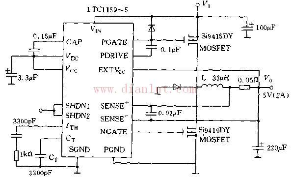 基于LTC1159的实用高效稳压电源电路