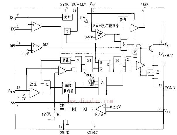 简易L4990内部结构框图
