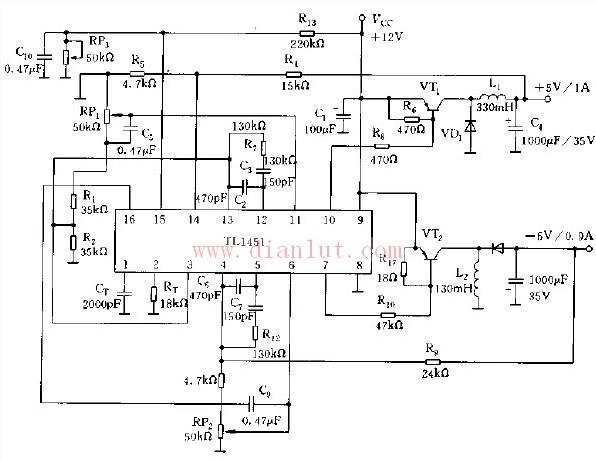 【图】tl1451典型应用电路基础电路