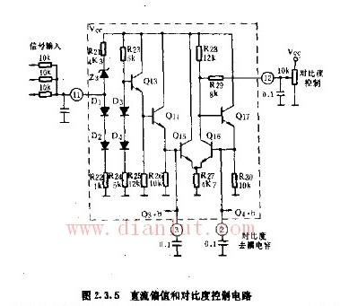 直流偏值与比度控制电路的应用
