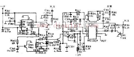基于CW140H行自动同步电路图