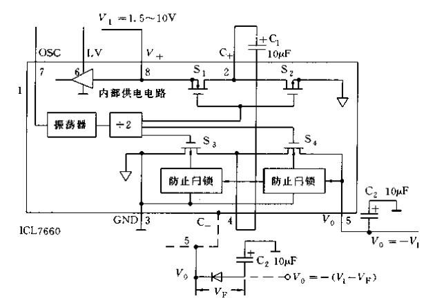ICL7660应用实例电路设计