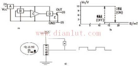 用线性型霍尔传感器输出模拟量电路