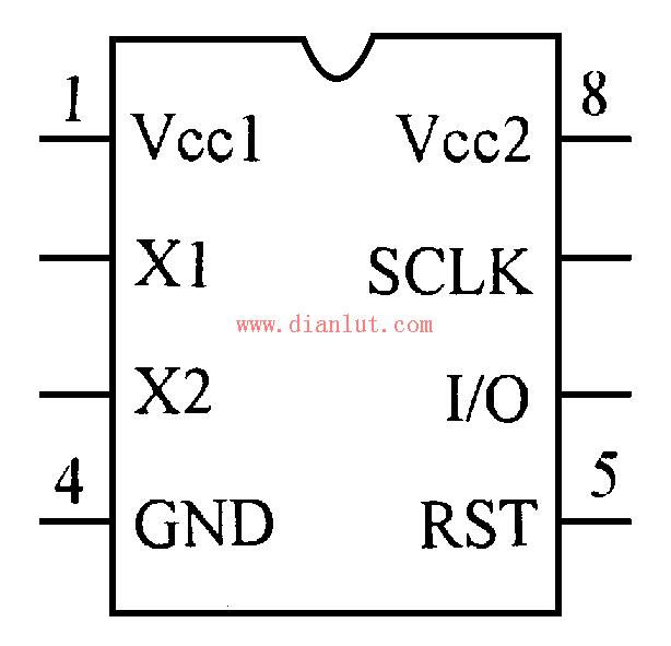 DS1302的引脚功能图及其应用电路