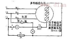 采用正温度系数热敏电阻的单相电机电路