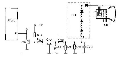 基于自动亮度的控制电路